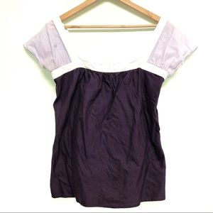 🐣 2/$20 Gap purple colorblock medium blouse